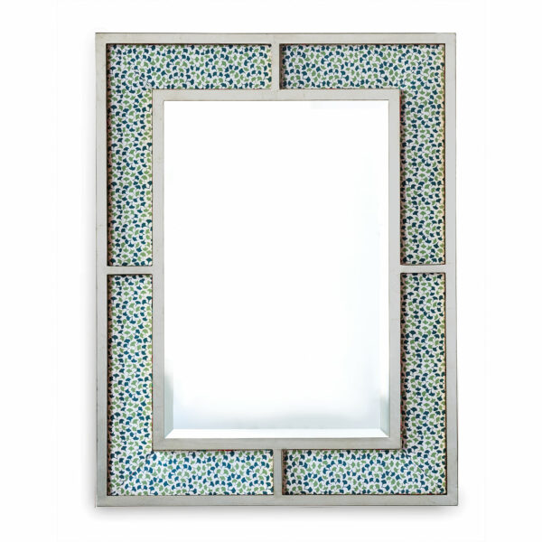 Upholstered Silver-leaf Mirror
