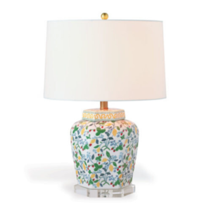 Crewel Summer Porcelain Lamp