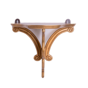 Gold-Leaf Wall Brackets