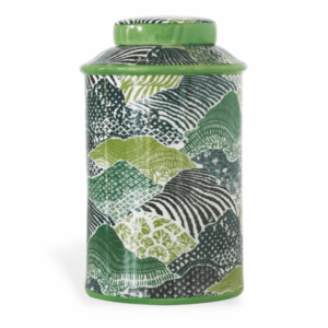 green lidded jar