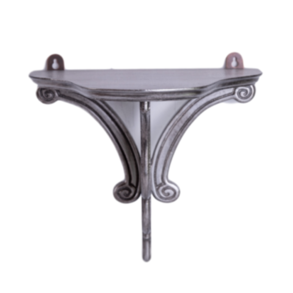 Silver-Leaf Wall Brackets