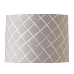 Grey Lattice Drum Lampshade