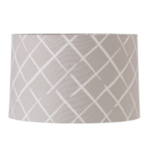 Grey Lattice Medium Lampshade