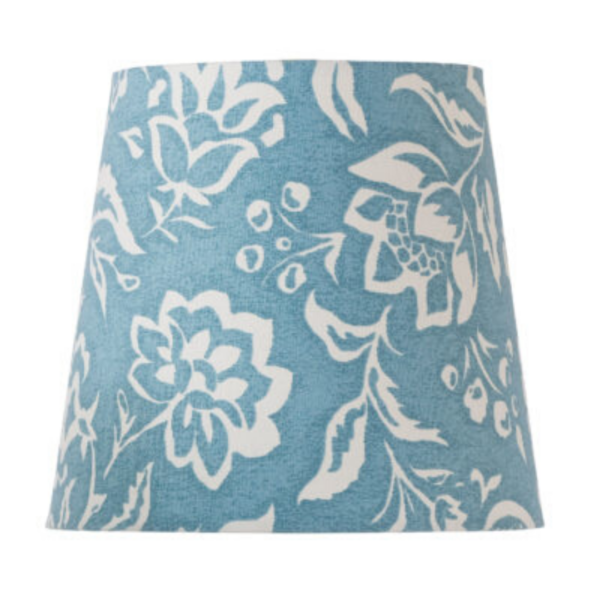 Blue Block-Print Empire Lampshade