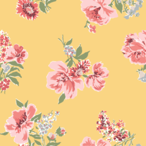 Daffodil-Yellow Floral Wallpaper