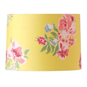 Yellow Floral Drum Lampshade