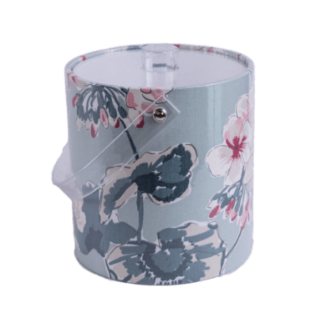 Blue Floral Ice Bucket Page Sep Sitename Mirador Morn Pattern
