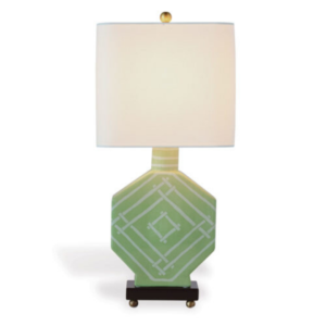Palm-Green Bamboozled Table Lamp