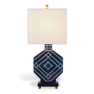 Indigo-Blue Bamboozled Table Lamp