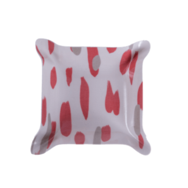 Coral Brushstroke Laminated Catchall