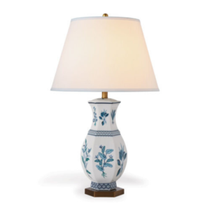 Blue Botanical Table Lamp