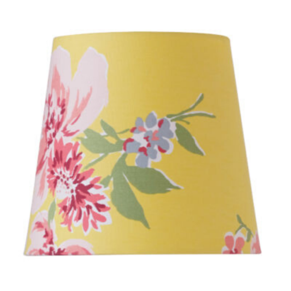Yellow Floral Chandelier Shade
