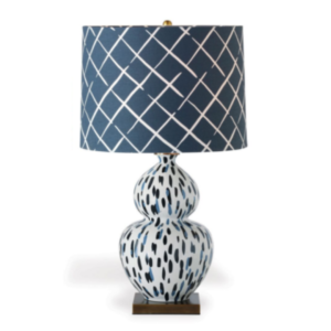 Blue Brushstroke Table Lamp