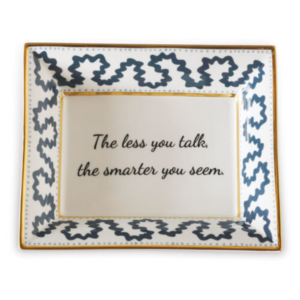 Blue Novelty Catchall Dish