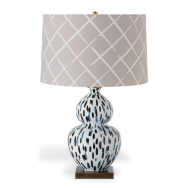 Indigo-Blue Brushstroke Table Lamp