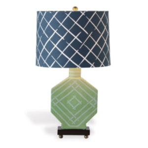 Palm-Green Fretwork Lamp