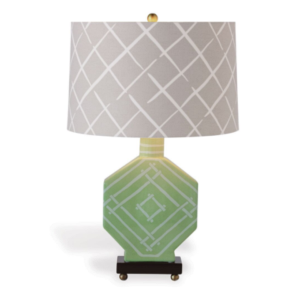 Green Fretwork Table Lamp