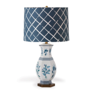 Botanical Blue Table Lamp