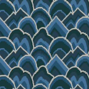 Cloud Club Indigo Fabric by the yard